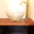 Bathroom Cabinet with Wooden Counter